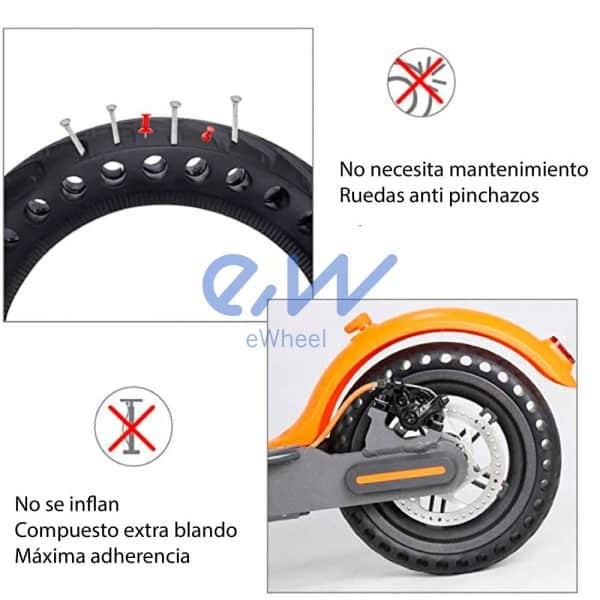 rueda maciza xiaomi m365 pro