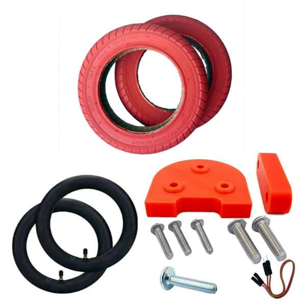 ruedas 10 xiaomi m365 pro rojo