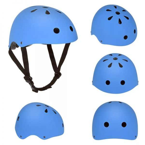 casco patinete electrico azul