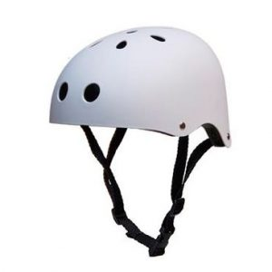casco patinete electrico blanco