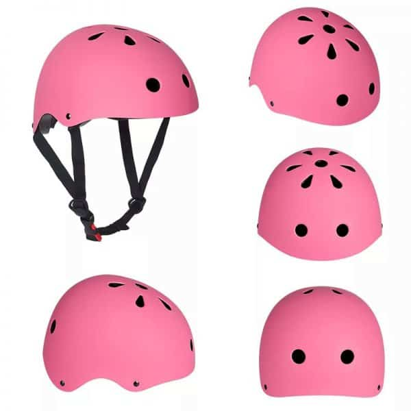 casco patinete electrico rosa